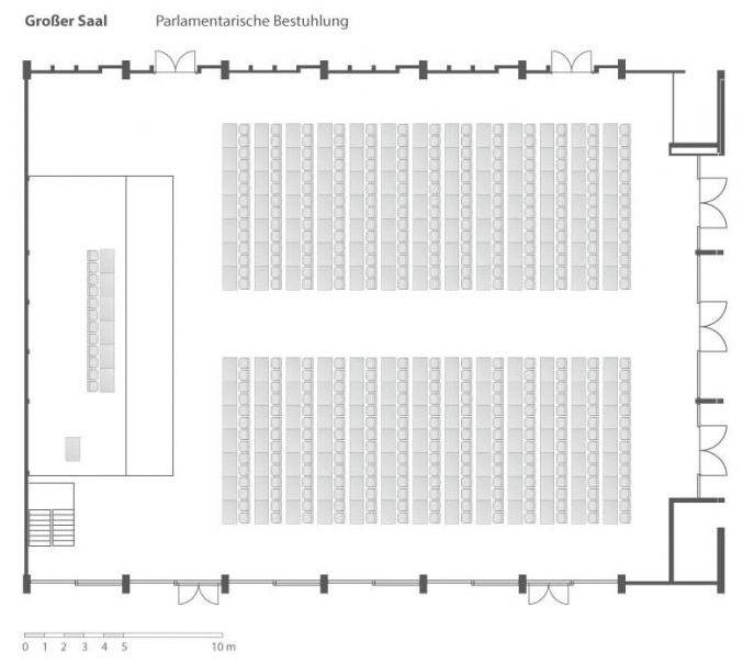 Großer Saal Raumplan Parlament